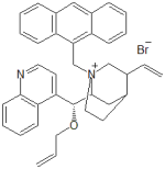 (-)-O-(9)-Allyl-N-(9-anthracenyl-methyl) cinchonidinium bromide
