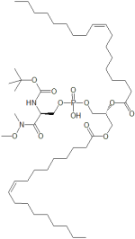 Octadec-9-enoic acid 2-{[2-tert-butoxycarbonylamino-2-(methoxy-methyl-carbamoyl)-ethoxy]-hydroxy-phosphoryloxy}-1-octadec-9-enoyloxymethyl-ethyl ester